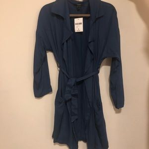 Casual jacket with waist tie